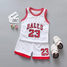 Детский комплект одежды для мальчиков, летняя детская одежда 2020, костюм для баскетбольной формы, спортивная одежда для мальчиков и девочек, ...(Китай)