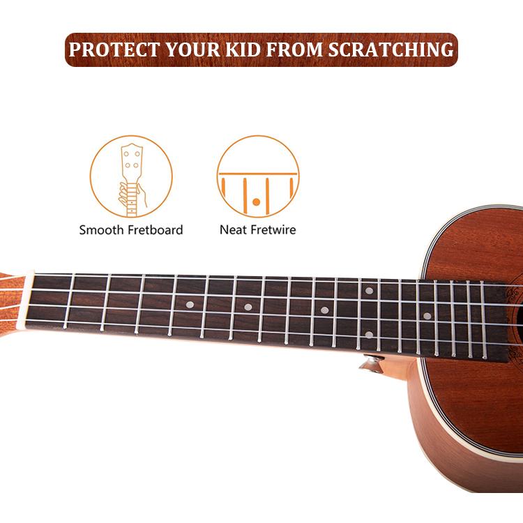 Hot Sale Factory Sapele Ukelele With Rosewood Fingerboard For Performance 24 inch concert Wood Ukulele