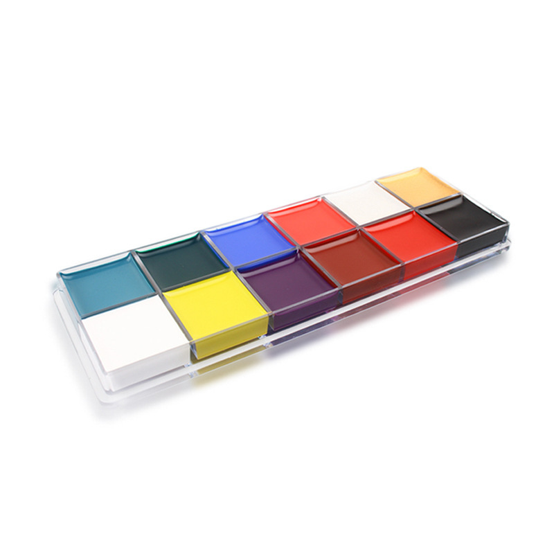 12 Colors Clown Dance Drama Effects Party Halloween Festival Colorful No Stimulation Make Up Paint