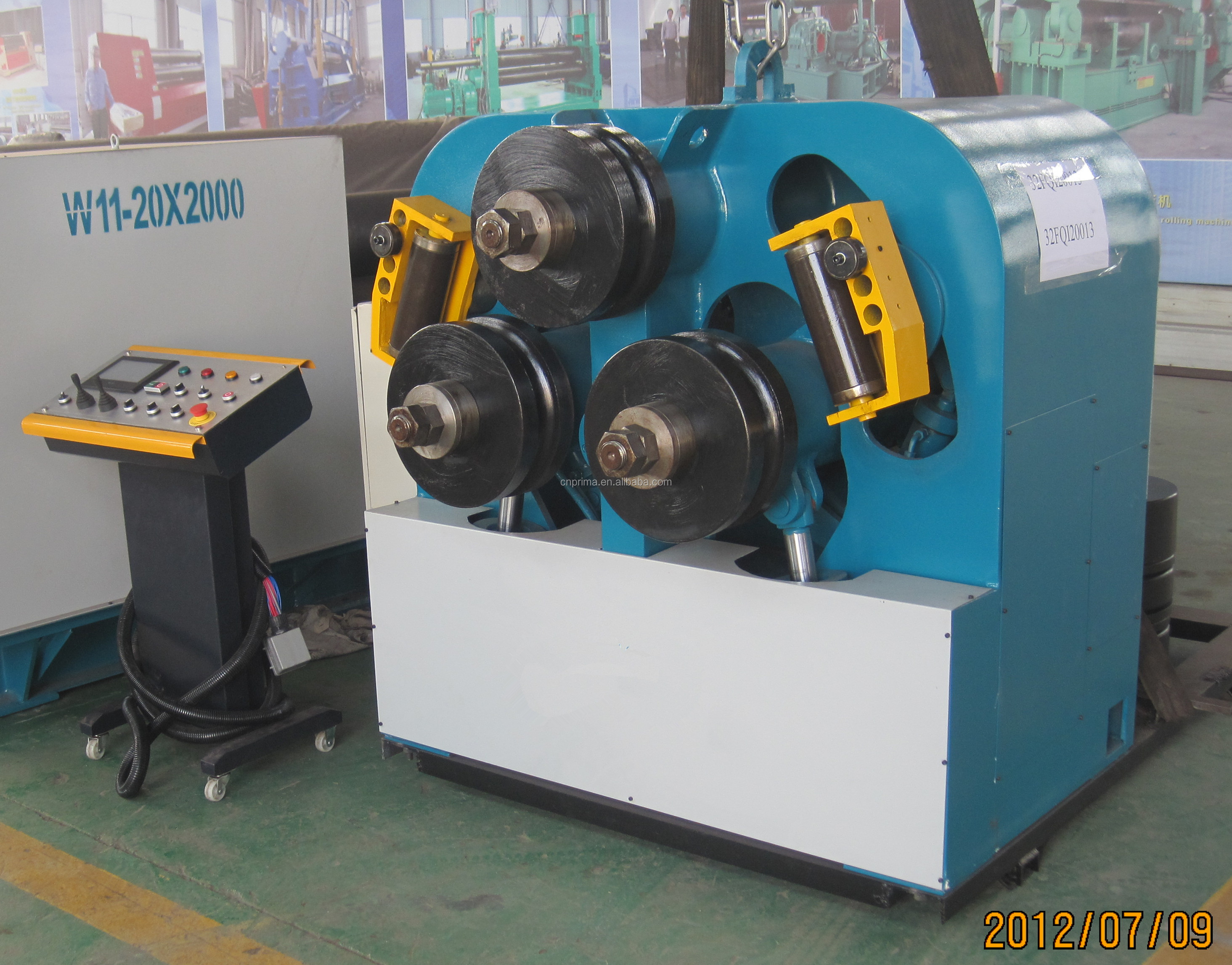 Solid Square/Round Steel Bar Profile Bender Hydraulic 3 Roll Pipe Bending Machine