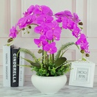Pink Butterfly Orchid Flowers Bouquet Artificial Flowers Hydrangea Flowers Arrangements Home Wedding Decor Pink Purple Green White