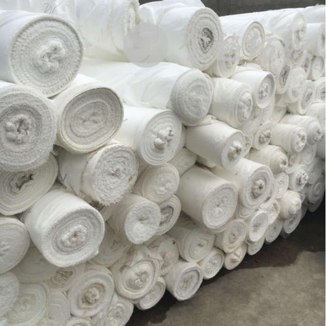 Changxing Factory supply 100% polyester microfiber raw grey fabric plain peach skin white fabric for Digital printing in stock