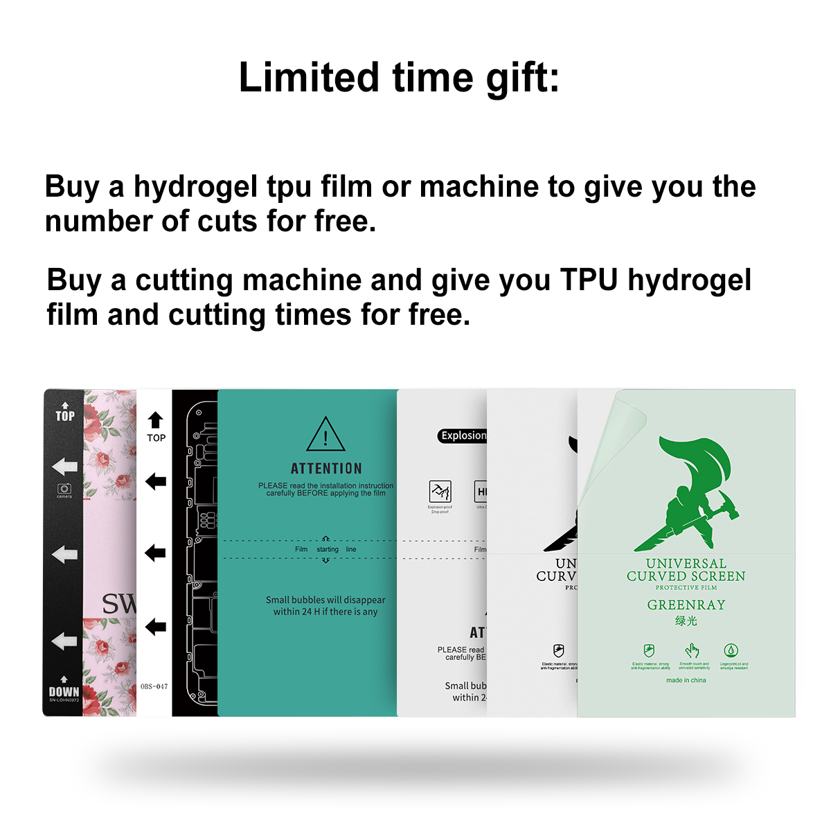 Hot Sale Fully Automatic Intelligent Hydrogel Screen Protector Cutting Machine for Screen Protector