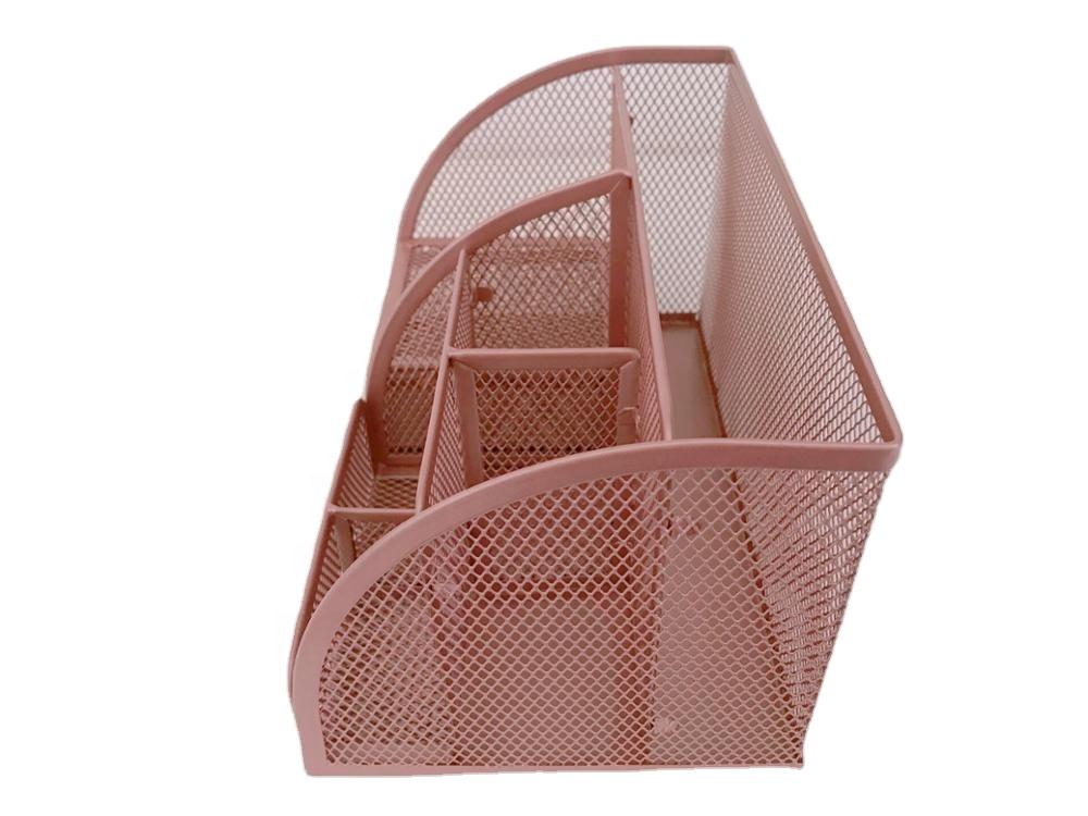 Sam офисные школьные принадлежности Настольный набор из розового золота металлическая проволока настенный подвесной Настольный Органайзер