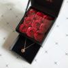 목걸이 상자 + 꽃