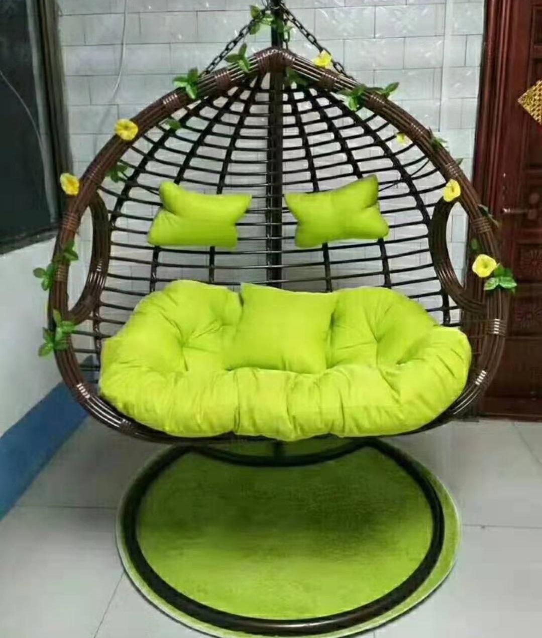 Новое поступление, двойное сиденье для наружного и внутреннего использования, подвесное кресло-качели для патио
