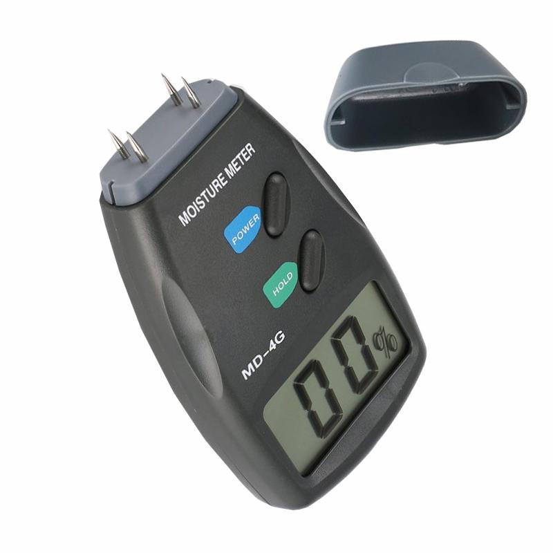 Portable MD-4G 4 Pins Digital LCD Wood Humidity Analyzer Hygrometer Wood Moisture Meter