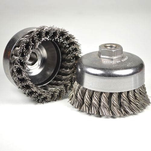 3inch useful hot sale  stainless steel  twisted cutter wire brush for polishing hand wire brush tools