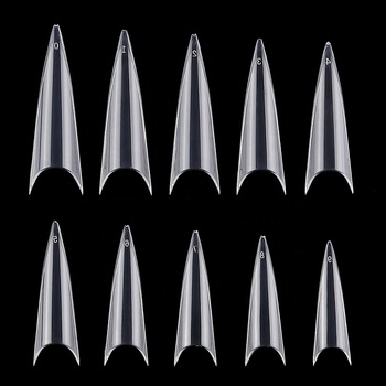 Professional nail extension French Tips Extra Long Stiletto False Nails For Salon Tips 10 different sizes 600pcs/bag