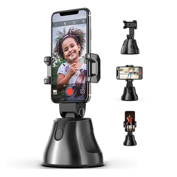 Hot selling portable smart shooting auto face ai authomatic genie rotation 360 object tracking cell mobile phone holder