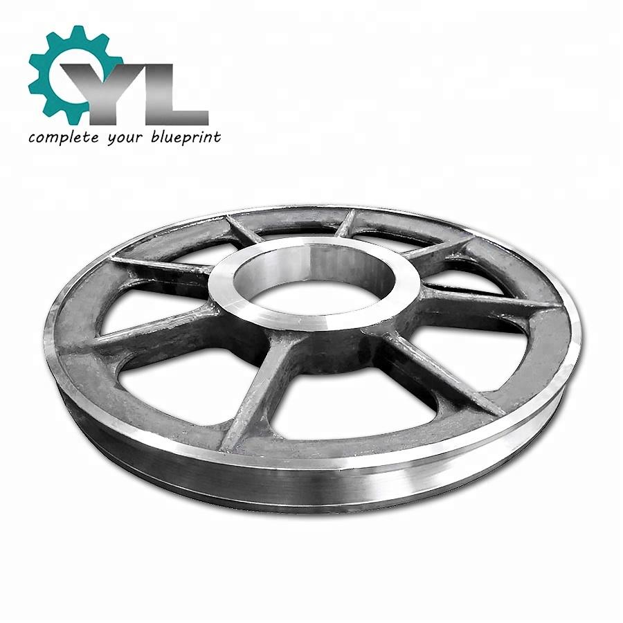 Large Steel Forging Alloy Steel V Belt Transmission Block Drum