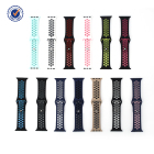 Apple Dual Color Silicone Strap For IWatch 1 2 3 4 5 Soft Silicone Sport Loop Strap Band For Apple Smart Watch 38/40/42/44mm Strap