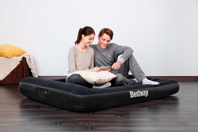 Bestway 67462 Tritech надувной матрас с встроенным насосом переменного тока, надувной матрас с воздушной кроватью 1,91 м x 1,37 м x 30 см