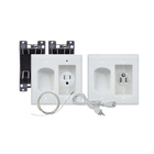 Flat Tv Flat Panel TV In Wall Cable Organizer Power Kit With Power Solution