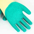 Latex Safety Latex Gloves Crinkle Surface Heavy Duty Latex Half Coated Premium Quality Gloves Safety Work