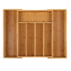 Выдвижной кухонный ящик для столовых приборов K & B, бамбуковый кухонный ящик-органайзер, лоток для столовых приборов