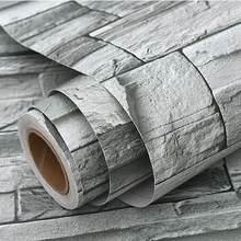Самоклеящаяся контактная бумага с каменным узором, кирпичная настенная бумага, наклейки для гостиной, спальни, домашнего декора, водонепро...(Китай)