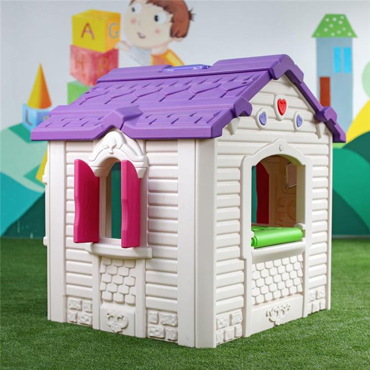 Kindergarten entertainment playground equipment indoor plastic play house for children