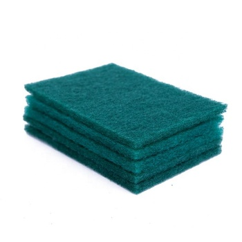 Kc88 Kitchen Dish Washing Wire Scouring Pads Soft Sponge With Handle Green Scrub Sponge Roll