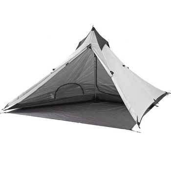 High quality waterproof teepee tent adult hiking backpacking pyramid tree tent camping