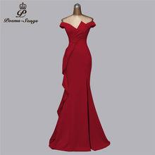 Вечерние платья ярких цветов, выпускные платья 2020, вечернее платье с горловиной лодочка русалки, vestidos de fiesta de noche, вечерние платья(China)