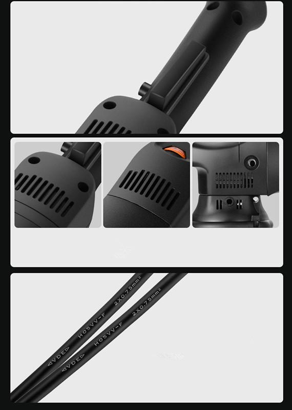 Long Cable Orbital Action Car Polishing Machine Waxing Machine Scratch Remove Beauty Care Repair Polisher