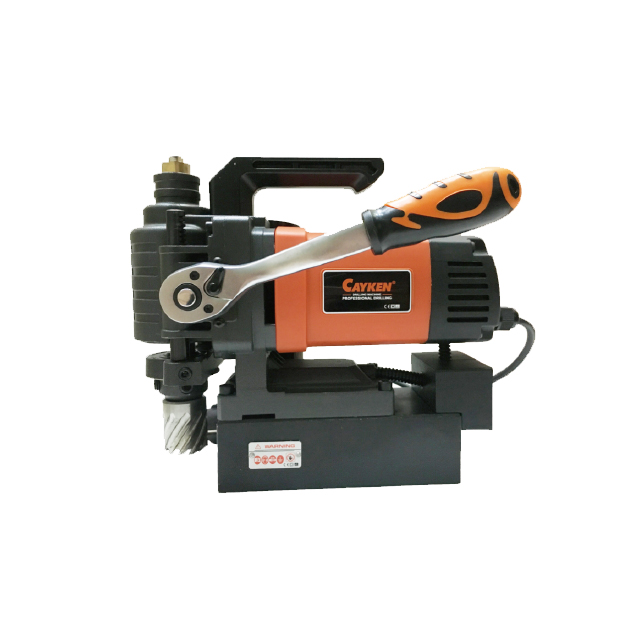 Cayken KCY-55DM 55mm 110/220V 50-60HZ 15500N Portable Mini Horizontal Type Magnetic Drill With Light Weight