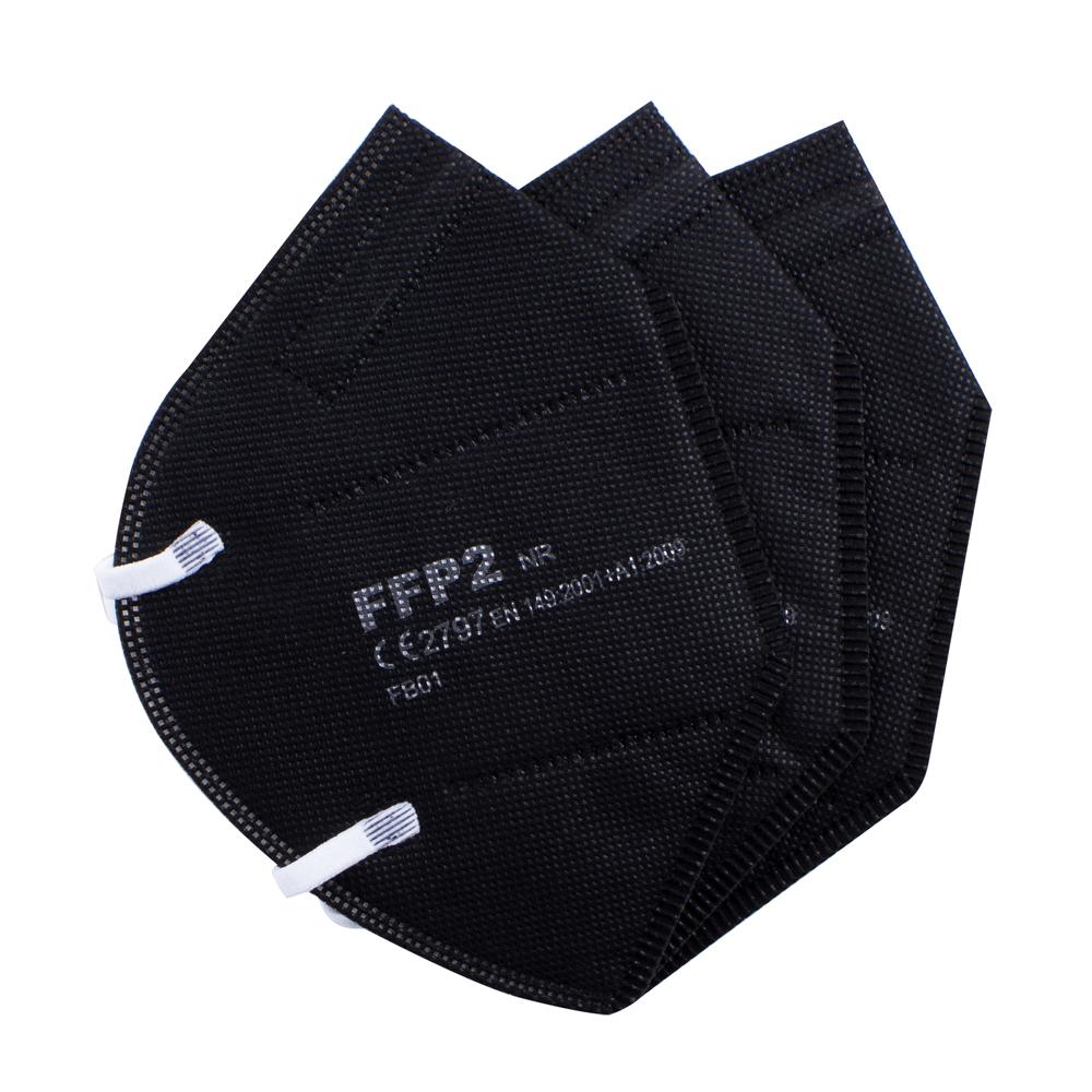 FFP2 Black Mask CE EN 149 Disposable Face Mask Black Color FFP2 Facemask ffp2mask Respirator ffp 2 Black Masks - KingCare   KingCare.net