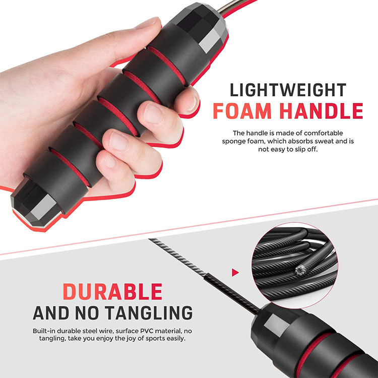 Скакалка для занятия спортом дома тренировки для занятий фитнесом OEM регулируемый тяжелые тренировок Мощность Скорость Ручка 28 мм Утяжеленная Скакалка из ПВХ