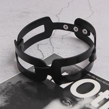 Женское Ожерелье [EAM], черное ожерелье из искусственной кожи с разрезом, новое темпераментное модное ожерелье, подходит к любой одежде, весна...(Китай)