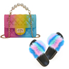 Colorful G Purse and Sandals Set