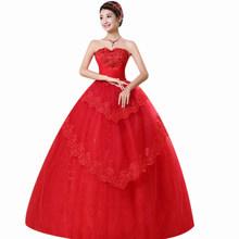 Красное свадебное платье es It's Yiiya BR727 элегантные свадебные платья без бретелек с кристаллами для женщин кружевное свадебное платье размера ...(China)