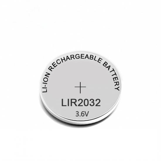 LIR2032 Battery 3.6V Coin Battery Rechargable