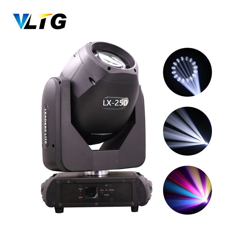 Hot selling led dmx stage lighting 250W 11R  colorful electronic led follow focus gobo spot disco lights for wedding party