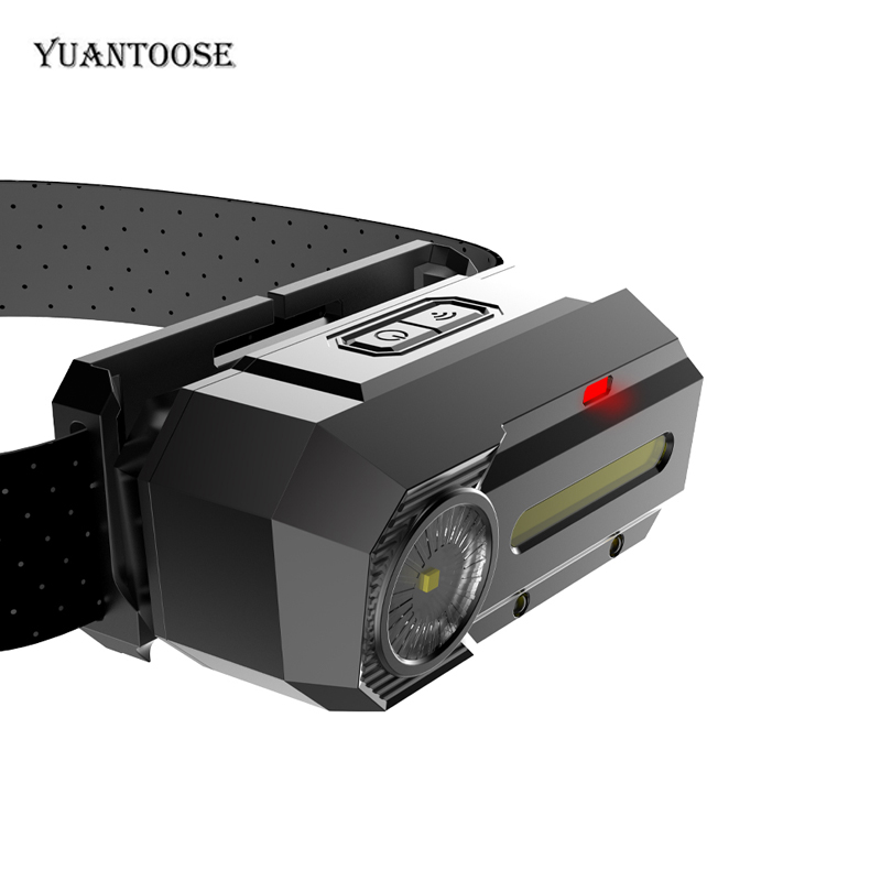 Camping Survival USB Charging Port Induction Headlamps With SOS Model