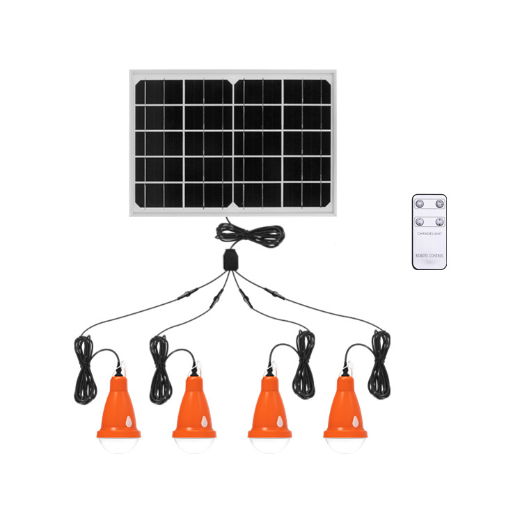 Made in China Home solar light bulb remote cost-effective light kit solar panel energy system