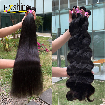 EXshine 100% Raw Cuticle Aligned Virgin Hair,Cheap Virgin Cuticle Aligned Hair From India,Unprocessed Indian Human Hair Vendor