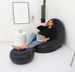 Indoor Lazy Outdoor Air Pump Lounge Sofa Bed Furniture Inflatable Movie Air Filled Chair Couch Sofa For Adult Relax