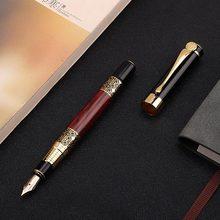 1 шт. Высококачественная классическая авторучка из древесины, Высококачественная деловая авторучка, металлическая авторучка для авторучки(Китай)