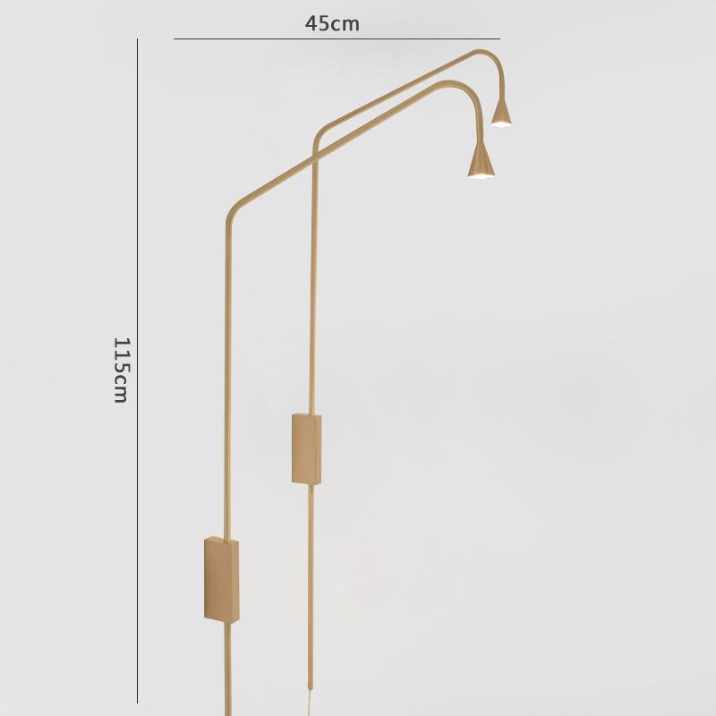 Арт античный золотой отделкой Утюг с возможностью декорирования помещения при помощи света сад вилла настенный светильник с GU10 разъем