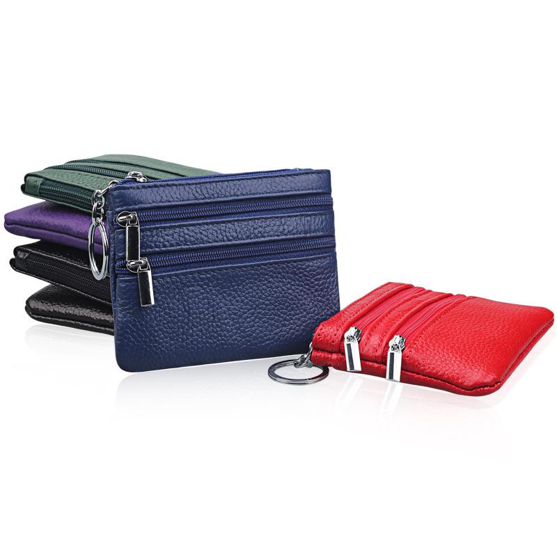 Женский и мужской кожаный кошелек для монет, мини кошелек, клатч на молнии, маленькая мягкая сумка, мини сумка, милые кошельки для монет на Рождество, Gif