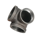 Iron Elbow Fittings Cast Pipe Black Malleable Iron Pipe Fitting Elbows Black Gas Malleable Iron 3-ways Side Outlet Elbow Malleable Fittings Cast Iron Pipe 3 Way Elbow Tee