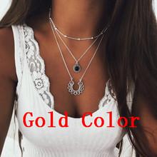Abayabay длинное персонализированное девушка крест ожерелье цепь Женская желтое золото цвет кулон трендовые колье ожерелье ювелирные изделия(Китай)