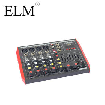 D6 Best Price Mini Family KTV 6 channels DJ Audio Mixer +48v USB/BT audio mixer