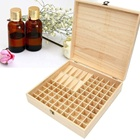 Wooden Essential Oil Box Oil Storage For Aromatherapy Oils Bottle Box Case For 5ml 10ml Bottles Tubes Accessories