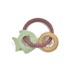 Rings Crochet Ring Wooden Teething Ring Baby Toddler Baby Wood Toy Beech Teether Rings Baby Crochet Beads Natural Wood Teething Ring Bracelets