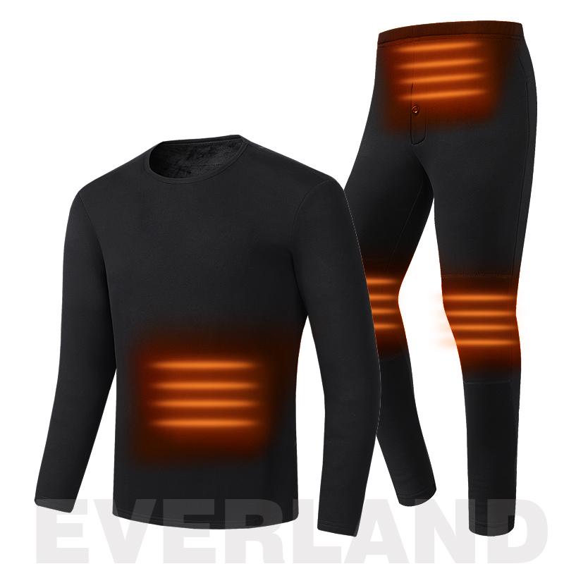 wholesale winter keep warm ladies inner wear two piece sets heating long johns for women heated thermal underwear
