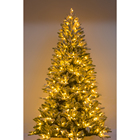 Holiday 6ft 7ft 8ft 9ft Pre-Lit Hinged Red Berries Pine Needle Tree Artificial Alpine Slim Pencil Christmas Tree Holiday