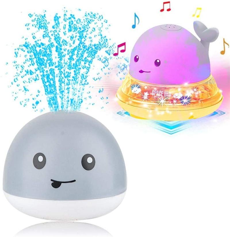 Новинка 2020, Игрушки для ванны, Электрический индукционный спринклер для китов, шар с подсветкой, музыкальный водяной шар, игрушки для купания, подарок для детей