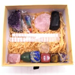 Wholesale 7 Chakra Stones Box Bohemian Meditation Set Crystal Healing Stones